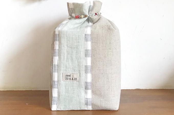 オリジナルのリネン製覆い袋(受注生産)